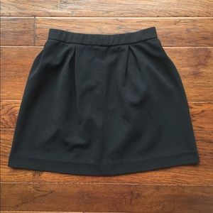 Madewell Bistro Black Pleated Skirt